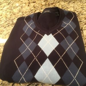 Izod Blue Argyle Sweater
